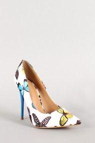 Shoe Republic Butterfly Pointy Toe Pump //also in black