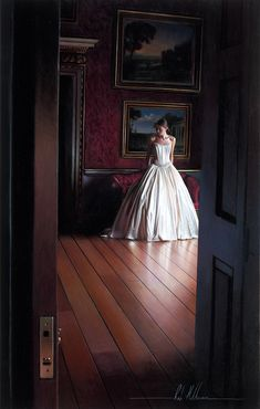 Unbelievably Photorealistic Paintings of an Elegant Bride by Rob Hefferan.