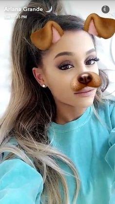 Ariana Grande via Snapchat ♡ | @heyitsgrell