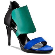Sandály ANN MEX - 7379 01S+05WK+13S Černá Peeps, Peep Toe, Anna, Shoes, Fashion, Moda, Zapatos, Shoes Outlet, Fashion Styles