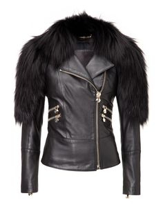 "PHILIPP PLEIN LEATHER JACKET ""ONE MOMENT"". #philippplein #cloth #"