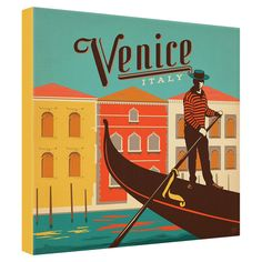 Anderson Design Group Venice I Wrapped Canvas