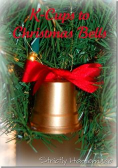 K cup bells perfect for a child's  ornament craft