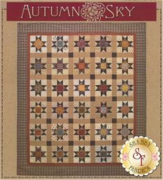 "This classic pieced star is the ""star"" of many vintage quilts. Norma Whaley designed this quilt as an homage to the beautiful quilts that are the heritage of our mothers and grandmothers. Finished size is 67"" x 80""."
