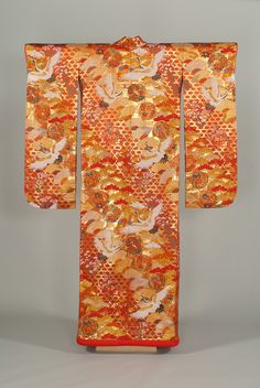 Wedding Uchikake, mid 20th century  Japan, Woven silk, metallic threads