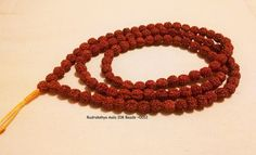 Rudraksha mala necklace 108 beads by KhasyorInternational on Etsy