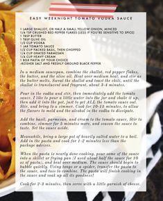 Recipe: Quick and easy tomato vodka sauce - Victoria McGinley Studio