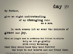 day 29 of The Prayer Manifesto for Moms