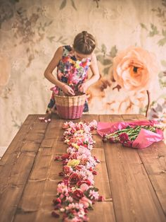 The wall - the dress - the basket - the wooden table - the flowers - all are beautiful. xx Spark
