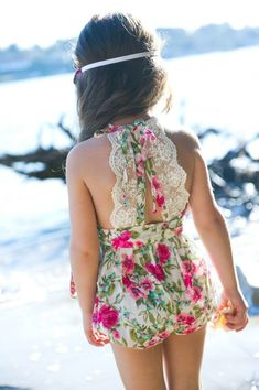 The ju ju Creations range is a collection of romantic, girly and modern vintage handmade designs and accessories. 'Audrey' girls playsuit by Juju Creations Little Girl Fashion, Toddler Fashion, Kids Fashion, Girls Playsuit, Little Fashionista, Kid Styles, Kind Mode, Baby Dress, Girl Outfits
