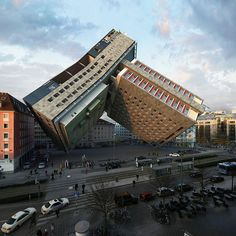 Architecture Discover víctor enrich twists and bends buildings into contorted city landscapes Unusual Buildings, Interesting Buildings, Amazing Buildings, Architecture Unique, Futuristic Architecture, Architecture Awards, Unusual Homes, City Landscape, Civil Engineering