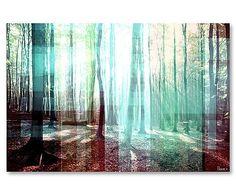 Digitaldruck Tree Rays auf Leinwand, 80 x 60 cm