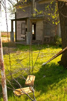 Nature Swings Here Now:  Abandoned farmhouse