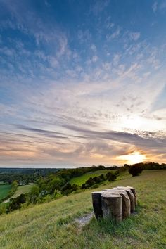 North Downs at Sunset by Simon Greig, via 500px - I have never felt quite the peace as I did on this hill.