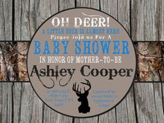 Camo Baby Shower Invitation by MyKaExpressions on Etsy