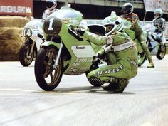Anton Mang with his Kawasaki 250