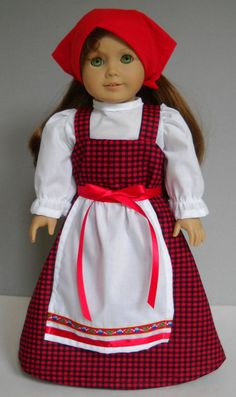 """Fits 18"""" American Girl doll Russia Russian folk dress clothes Q (COSTUME ONLY)"""
