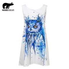 Hot Selling Women O-Neck Slim Chiffon Owl Animals Print Beach Tank Dress Summer Cute Party Dress Plus Size Isn`t it awesome? http://www.lady-fashion.net/product/hot-selling-women-o-neck-slim-chiffon-owl-animals-print-beach-tank-dress-summer-cute-party-dress-plus-size-waibo-bear/ #shop #beauty #Woman's fashion #Products