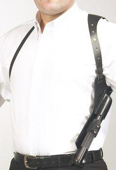 Covert shoulder holster for police baton