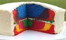 Rainbow marble or layer cake recipe recipe - Cakes & Baking recipes