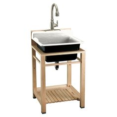 Shop KOHLER 24-in x 25.5-in White Self-Rimming Cast Iron Laundry Utility Sink at Lowes.com