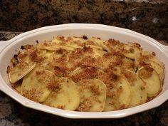 Aardappelgratin met geitenkaas en groenesalade is verrassend lekker. De…