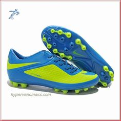 Soccer Cleats Illusion Nike HyperVenoms Phantom AG ACC Cleats Neptune Blue