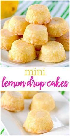 Lemon Drop Mini Cakes is part of Drop cake - These mini Lemon Drops are a perfect treat for lemon fans Tiny lemon cakes are drenched in a mouthwatering lemon glaze making them delicious and addicting Drop Cake, Smores Dessert, Bon Dessert, Appetizer Dessert, Appetizers, Mini Cakes, Cupcake Cakes, Tea Cakes, Mini Cake Pans