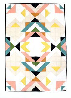 Geometric baby quilt