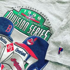 Vintage 90s Boston Red Sox vs Cleveland Indians Division Series T e5a4efd19