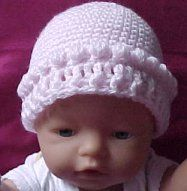 Puff Stitch Baby Hat Crochet Pattern - Free Crochet Pattern Courtesy of Crochetnmore.com