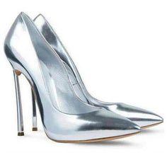 79,90EUR High Heels Pumps metallic silber