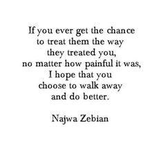 I wouldn't go for revenge - karma