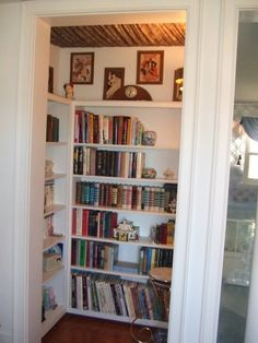 My dream house in 2019 closet library, home office space, closet shelves. Home Room Design, House, Closet Library, Guest Bedroom Remodel, Home, Simple Bedroom, Small Bedroom Remodel, Remodel Bedroom, Closet Remodel