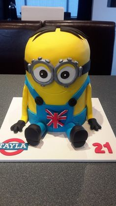 Minion Cake - with a British twist! - Homemade By Hollie.