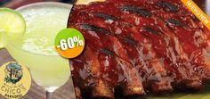 Chico's Paradise - $92 en lugar de $230 por 1 Deliciosas Costillas BBQ + 1 Margarita Jumbo ó 1 Limonada Click http://cupocity.com
