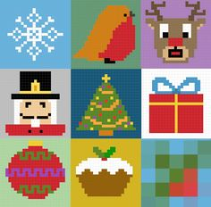 This weeks christmas pixel pattern is the christmas pudding, this is one of the easier and quicker patterns, although there are 6 col...