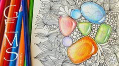 How to Draw Gems   Colored Pencil Tutorial   Zentangle Inspired Art with...