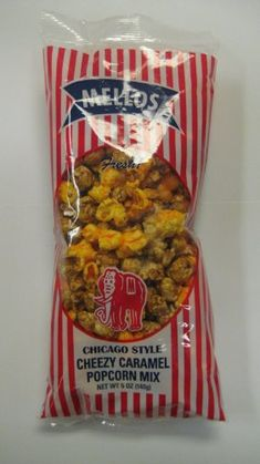 Popcorn Chicago Gourmet Mellos ** Check this awesome product by going to the link at the image. Popcorn Mix, Gourmet Popcorn, Pop Corn, Gourmet Cheese, Chicago Style, Caramel, Cereal, Breakfast