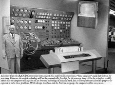 """The photo is supposed to show a futuristic """"home computer"""" designed by the RAND Corporation in And it'd be a wonderful artifact of retro-futurism. If it were true. The image was actually made during a Photoshop contest hosted by Fark back in Alter Computer, Home Computer, Computer Technology, Computer Lab, Computer Mockup, Logitech, Top Photos, Capture The Flag, Alcatel One Touch"""