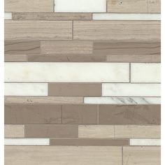 You'll love the Maison Random Sized Marble and Lime Stone Mosaic Tile in Linear at Wayfair - Great Deals on all Home Improvement  products with Free Shipping on most stuff, even the big stuff.