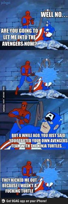 Poor Spidey Not Reach His Dream.