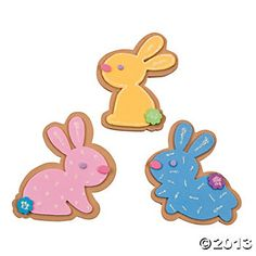 Easter Bunny Sugar Cookie Magnet Craft Kit - Oriental Trading