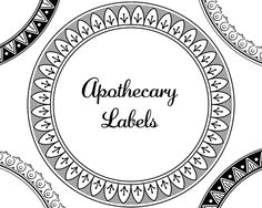 Free Borders - Apothecary Labels Designer Resources - StarSunflower Studio