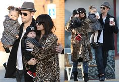 Celebrity mom style // Nicole Richie and her stylish family