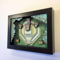 Zelda 3D-schaduw Box met Master zwaard van Legend door GlitchArtwork