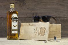 bf6627bafe Shwood sunglasses and bushmills whiskey collaborated on a pair of wayfarers  made from 100 year old white oak whiskey barrels.