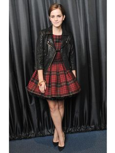 Trend spotter: Emma Watson's Chic Plaid Look