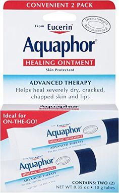Mom, Paula: Aquaphor Healing Ointment, Dry, Cracked and Irritated Skin Protectant, .35 Ounce (Dual Pack) Aquaphor
