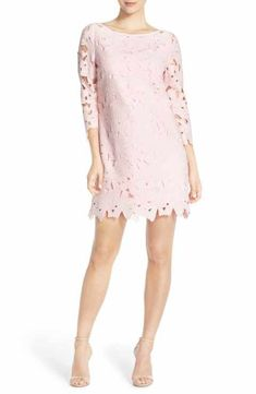 3278f41bbe34 Felicity   Coco Belza Floral Lace Shift Dress (Nordstrom Exclusive) Lace  Dresses